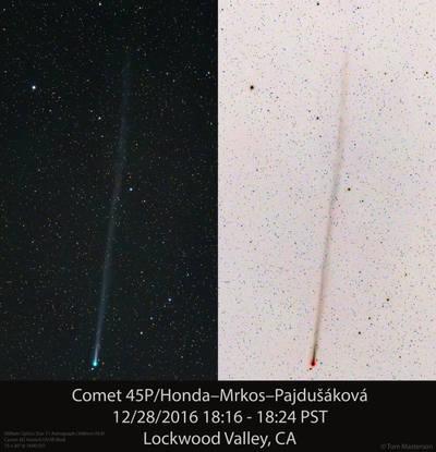 Comet 45P/Honda–Mrkos–Pajdušáková (12/28/2016)