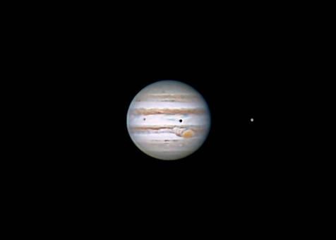 Io, Jupiter, Ganymede 12/7/2014