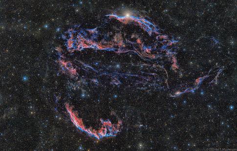 Cosmic Firework, Veil Nebula Supernova Remnant DSS-II Combo