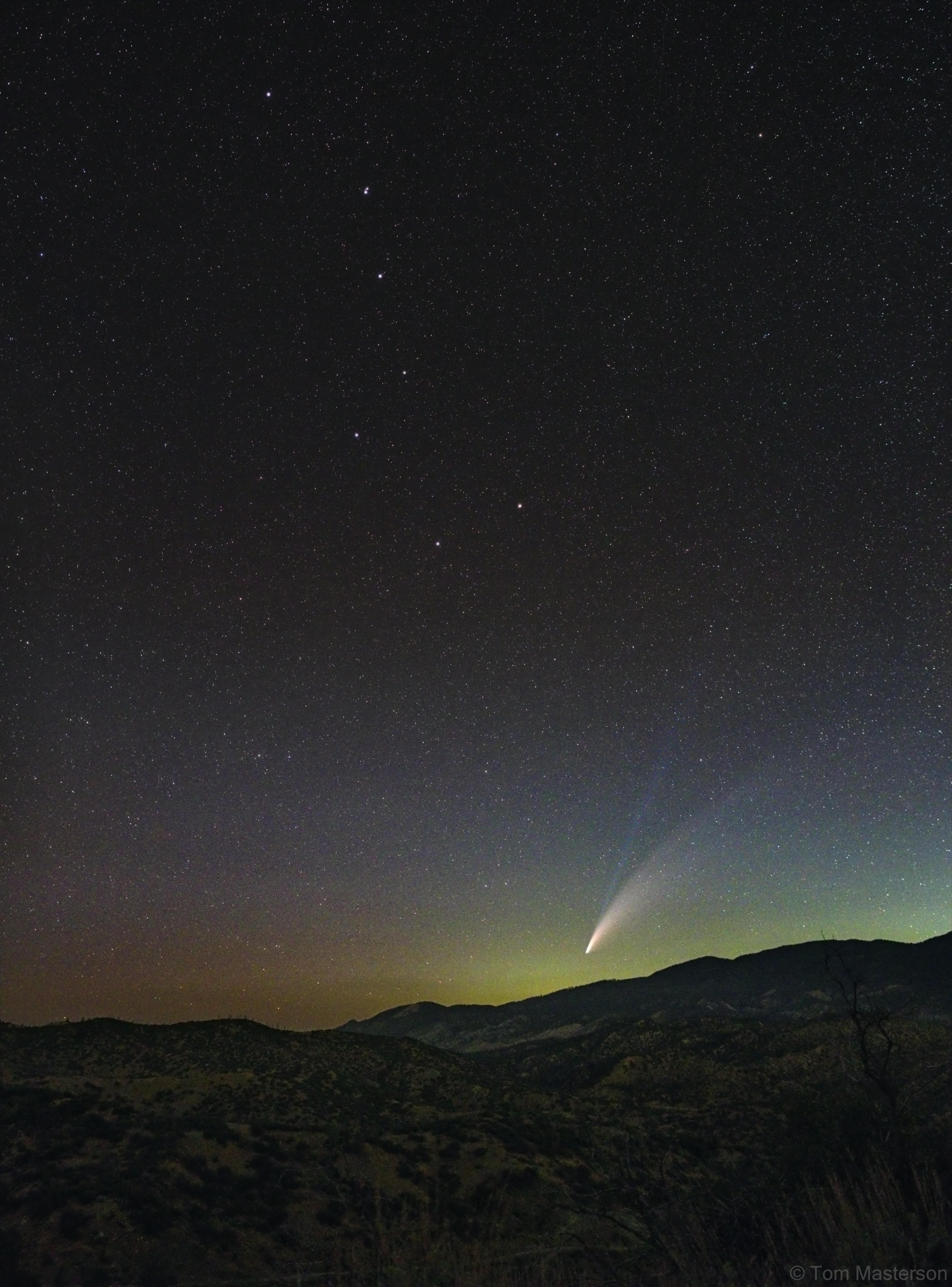 Comet NEOWISE Below the Big Dipper