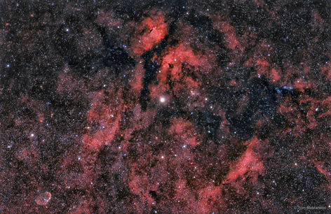 The Fiery Swan, Gamma Cygni Nebula