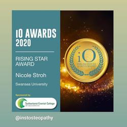 Institute of Osteopathy Award Nicole Stroh
