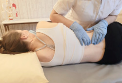 Osteopathy treatment for lower back pain