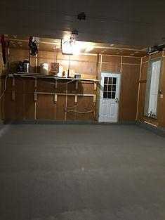 Finition de béton pour garage