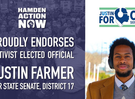 DSA, Sunrise, and Hamden Action Now Endorse Justin Farmer
