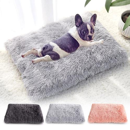 Long Plush Dog Bed Pet Cushion Blanket
