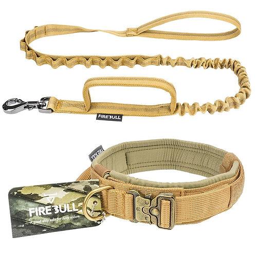 Pet Dog Tactical Collar and Leash Set