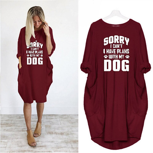 Pocket Dog Lover Fashion T-Shirt for Women