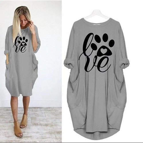 Pocket Paw Lover Dog&Cat Fashion T-Shirt for Women