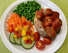 Vegetarian Sausage in Tomato Sauce, with