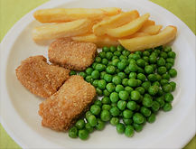 Quorn Nuggets, Chips and Peas.jpeg