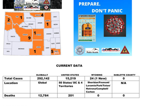 Sublette County Update - 03/22/2020