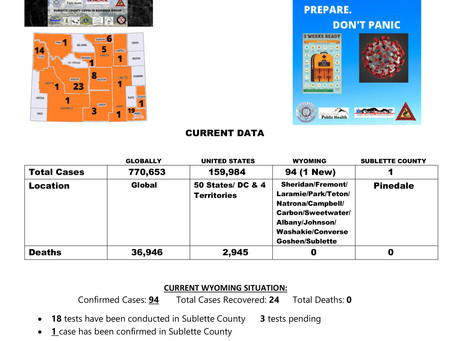 Sublette County Update - 03/31/2020