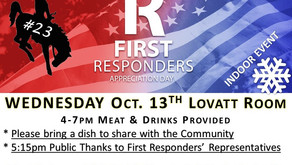 You're Invited - Annual First Responders Appreciation Day Barbeque