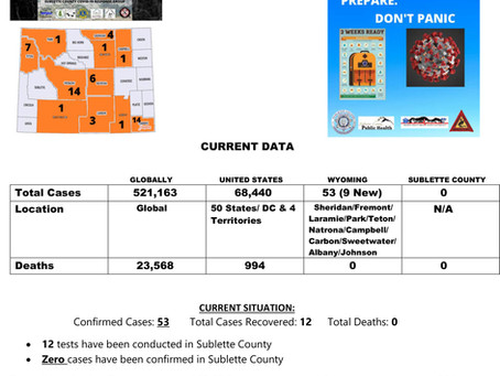 Sublette County Update - 03/26/2020