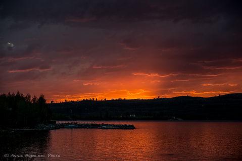Sunset on Fremont Lake