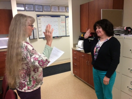 Warm welcome to our new Town Clerk-Treasurer!