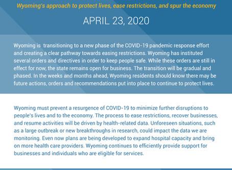 Wyoming Transition Plan - 04/23/2020