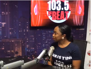 Christine talks with Papa Keith on 103.5 The Beat.