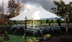 White 20x40 Canopy Tent