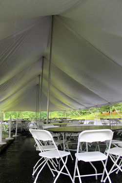 40x100 Pole Tent Inside