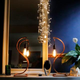 A pair of Swan Lamps