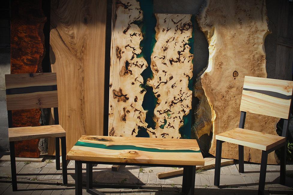 столрека, слэбы, стул из слэба, мебель лофт