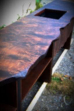 стол-река, слэбы, мебель лофт, стол из массива дерева