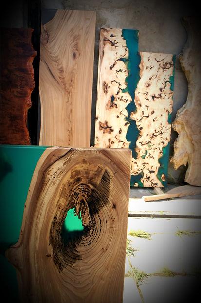 стол-река, слэбы, разделочные доски, мебель лофт