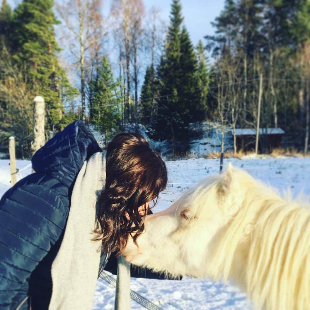 Karin med sin häst