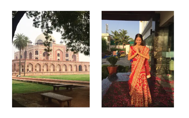 Cecilie jobbar med inredning från Indien