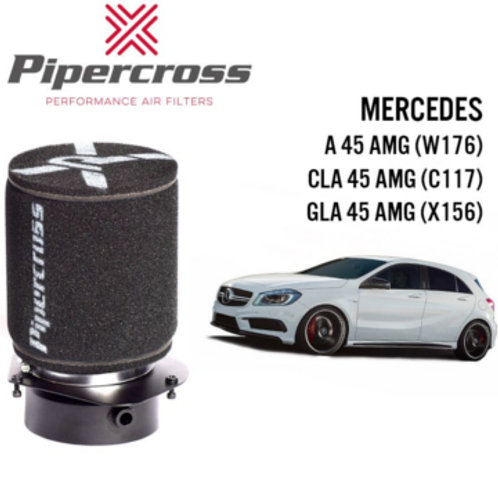 Car air filter. Pipercross Brand, Part Number PX1974. Fits Mercedes A45 CLA, 45 GLA, 45 AMG.