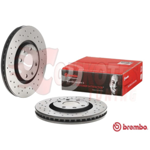 Brembo front brake discs for Car.Fits DS4 CROSSBACK 1.6 THP, 2.0 BlueHDi, DS5 1.6,2.0 HDi, BlueHDI.Part Number 09A8292X.