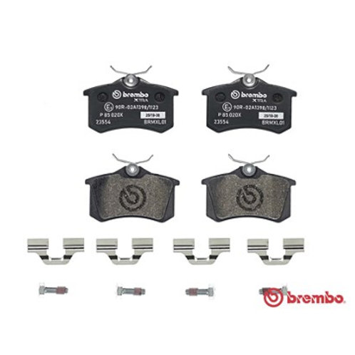 , Brembo brake pads for cars.Part Number P 8 5 0 2 0 X. P85020X. Fits VW Polo 1.8 Litre GTi
