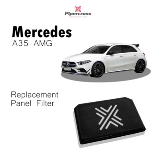 Car air filter. Pipercross Brand, Part Number PP2018. Fits Mercedes A35 AMG , A class and b class.
