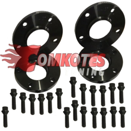 Audi Seat VW Wheel Spacers 5x112 57.1mm Hub with Radius Bolts (Black)