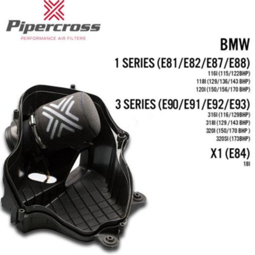 Car air filter. Pipercross Brand, Part Number PX1989. Fits BMW 1 Series E81, E82, E87, E88 & 3 Series E90, E91, E92, E93.