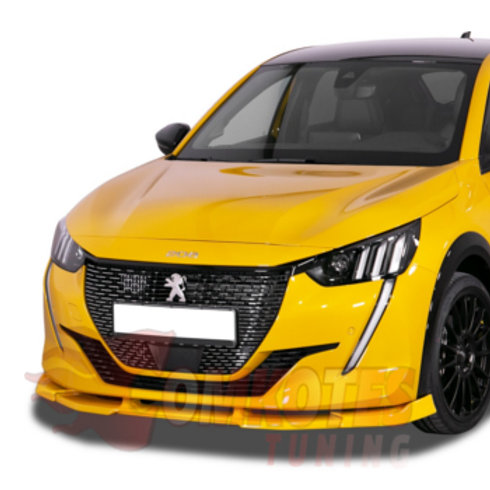 Peugeot 208 Mark II.Fits 2019 models onwards. ABS Front Bumper Spoiler Splitter. Access, Alure, GT Line,e-208.