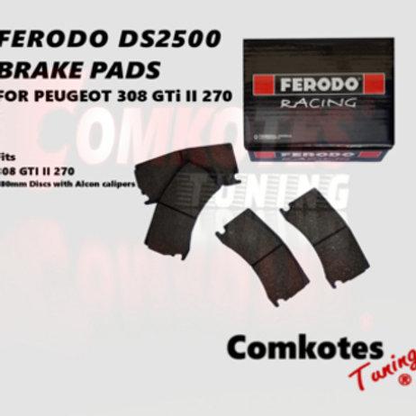 Ferodo DS2500 Brake Pads (Front) 308 GTi II 270