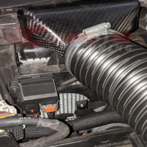 Car intake Scoop. Fits Peugeot & Citroen, Material=Carbon Fibre.