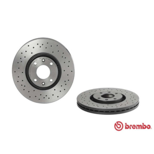 Part Number 09.9619.1X.Car Brake Disc. Brembo Xtra. Fits Citroen Berlingo, C3, C4, C5, DS3,DS4,DS5,Aircross. 283mm Diameter.