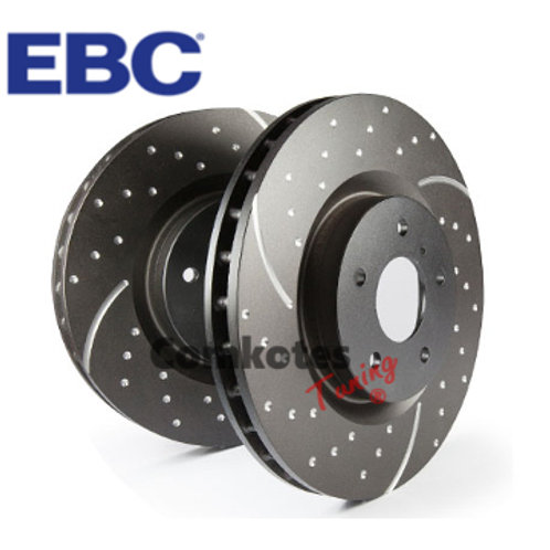 EBC Groove & Dimpled Front Brake Discs (302mm) 208GTi DS3 RCZ
