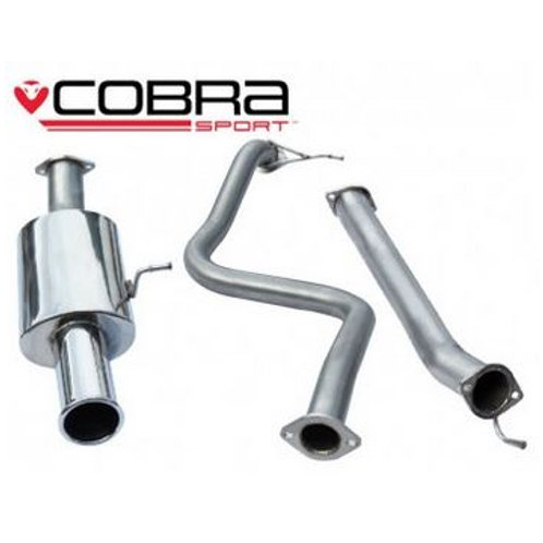 """Ford Fiesta ST180 Cat Back System 2.5""""  (Non-Resonated)"""