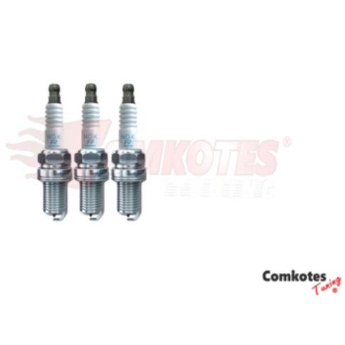 NGK Spark plugs for 3 cylinder petrol engines. Fits Peugeot 108, 308,2008. Citroen DS3, DS4. Part Number 97999 & LZKR6AI-10G.