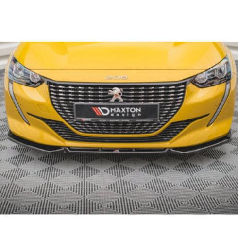 Car Bumper Spoiler Lip. Front Splitter for Peugeot 208 MK2. MkII E208.
