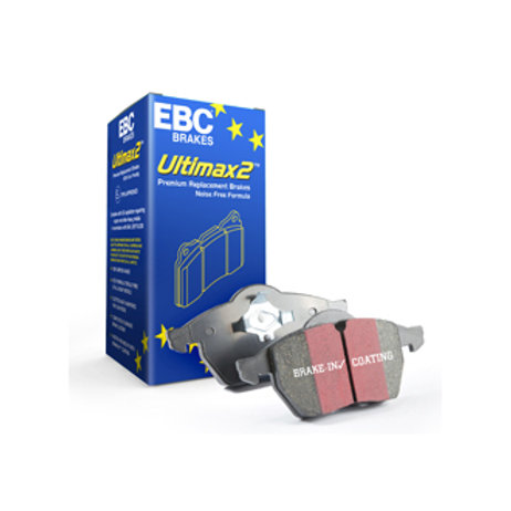 Car brake pads. Manufactured by EBC. Ulitmax brake pads are for street & road driving. Part Number DPX2197. Fits Peugeot 308