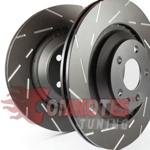 USR Fine Slotted Brake Discs (Pair) to fit Front Clio RS MK4 200 by EBC