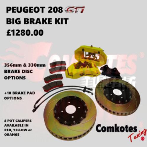 K-Sport 8 Pot Caliper Brake System Fixed Rotor 330mmx32mm Disc