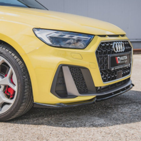 Part Number AU-A1-GB-SLINE-FD3. Car styling front splitter for Audi Sportback by Maxton.