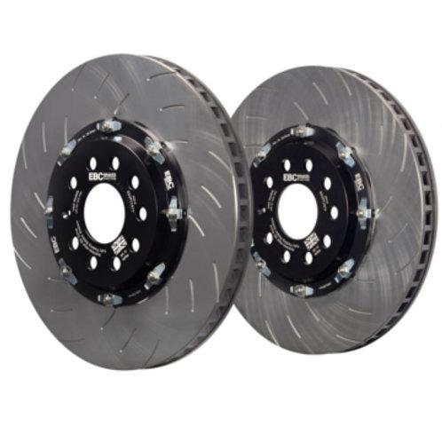 EBC Racing 2 Piece Floating Front Brake Discs to fit Leon Cupra MK3 Audi S3 Quat